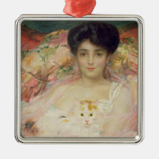 Lady with a Cat, 1904 Metal Ornament