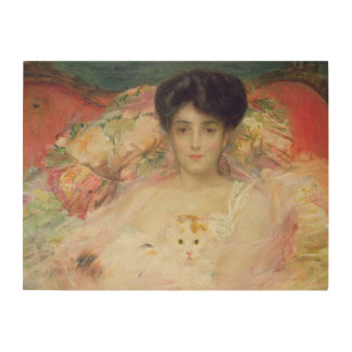 Lady with a Cat, 1904 Wood Wall Art