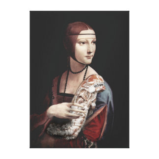 Lady with a Chestburster Canvas Print
