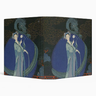 Lady with a Dragon (colour litho) Binder