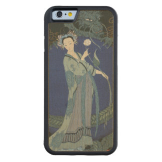 Lady with a Dragon (colour litho) Carved® Maple iPhone 6 Bumper
