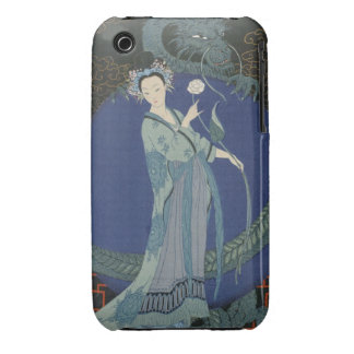 Lady with a Dragon (colour litho) Case-Mate iPhone 3 Case
