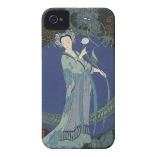 Lady with a Dragon (colour litho) Case-Mate iPhone 4 Case