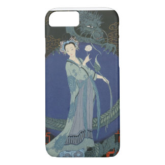 Lady with a Dragon (colour litho) iPhone 7 Case