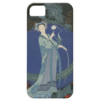 Lady with a Dragon (colour litho) iPhone SE/5/5s Case