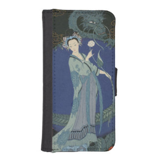 Lady with a Dragon (colour litho) Wallet Phone Case For iPhone SE/5/5s