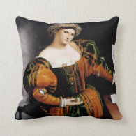 Lady with a Drawing of Lucretia Throw Pillows