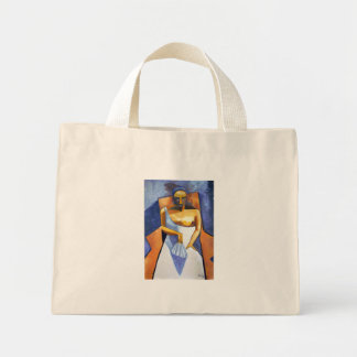 Lady With A Fan Tote Bags