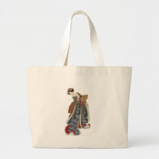 Lady with a Fan Large Tote Bag