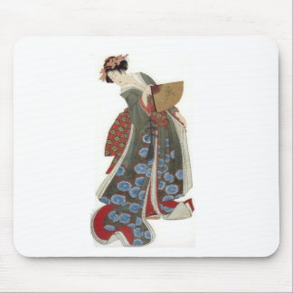 Lady with a Fan Mouse Pad
