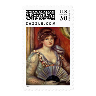 Lady with a Fan Postage
