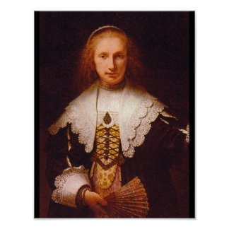 Lady with a Fan', Rembrandt_Dutch Masters Poster