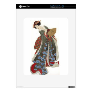 Lady with a Fan Skins For iPad