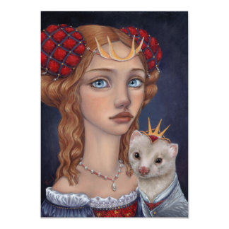 Lady with a Ferret Card