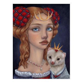 Lady with a Ferret Postcard