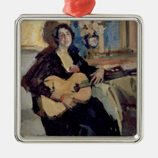 Lady with a Guitar, 1911 Christmas Ornaments
