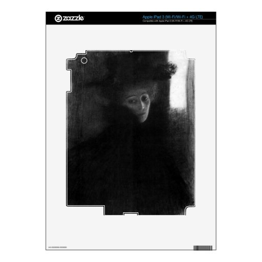 Lady with a hat and Cape by Gustav Klimt Skin For iPad 3