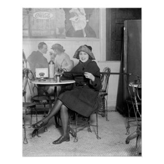 Lady with a Hidden Flask, 1922. Vintage Photo Poster