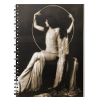 lady with a hoop notebooks
