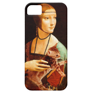 Lady with a Kitten iPhone SE/5/5s Case
