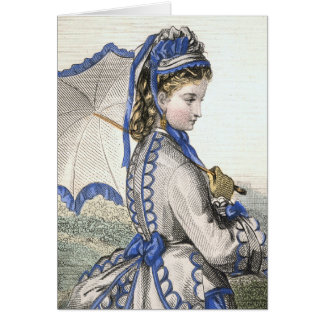 Lady with a Parasol Greeting Card