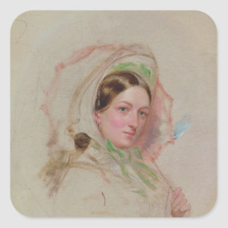 Lady with a Parasol Square Sticker