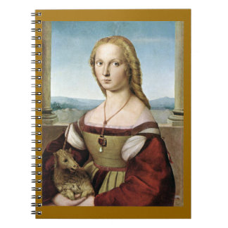 Lady with a Pet Unicorn Notebook