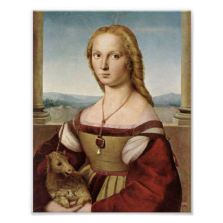 Lady with a Unicorn by Raphael Print