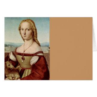 Lady with a Unicorn Card