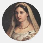 Lady with a Veil Classic Round Sticker