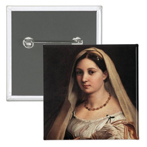 Lady with a Veil Pinback Button