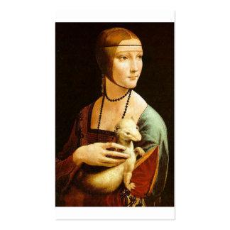 Lady with an Ermine by Leonardo Da Vinci c. 1490 Business Card Template