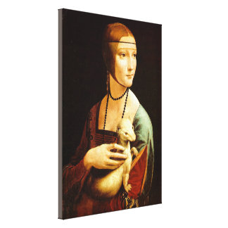 Lady with an Ermine Canvas Print