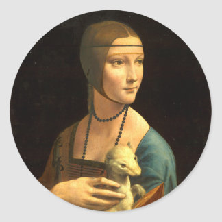 Lady with an Ermine Classic Round Sticker