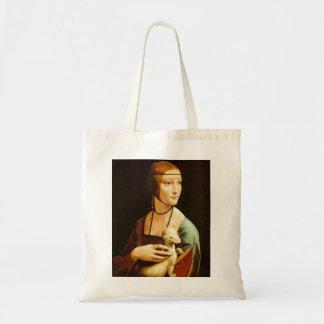 Lady with an Ermine, Leonardo Da Vinci Budget Tote Bag