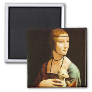 Lady with an Ermine, Leonardo Da Vinci Magnet