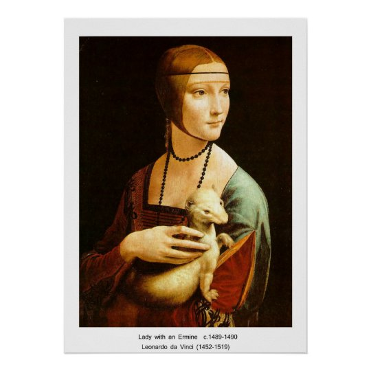 Lady with an Ermine, Leonardo Da Vinci Poster