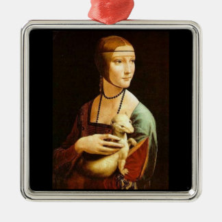 Lady With An Ermine Metal Ornament