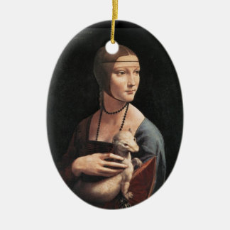 Lady with an Ermine Christmas Tree Ornaments