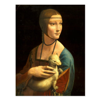 Lady with an Ermine Postcard