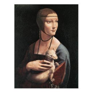 Lady with an Ermine Postcard