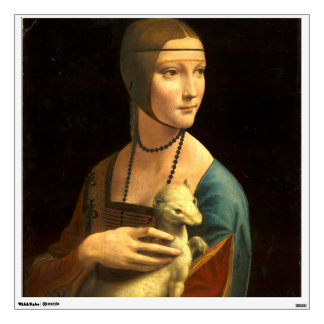 Lady with an Ermine Wall Sticker