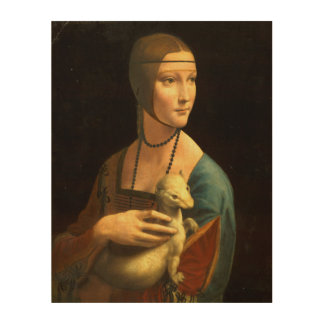 Lady with an Ermine Wood Wall Art