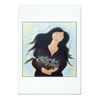 Lady with Basket of Fish. Card