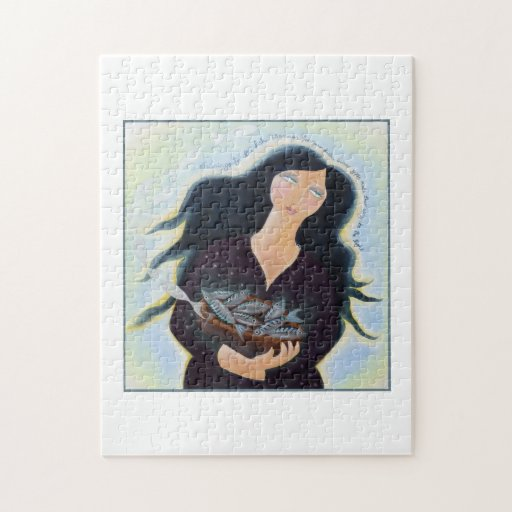 Lady with Basket of Fish. Jigsaw Puzzles