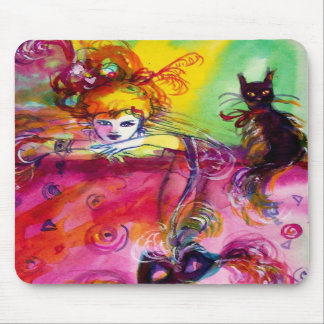 LADY WITH BLACK CAT MOUSEPADS