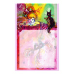 LADY WITH BLACK CAT PERSONALIZED STATIONERY