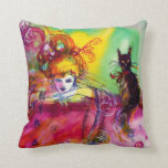 LADY WITH BLACK CAT Venetian Masquerade Ball Pillows