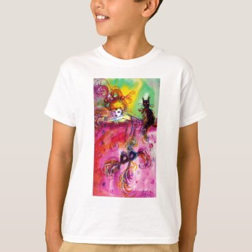 Halloween Themed LADY WITH BLACK CAT / Venetian Masquerade T-Shirt