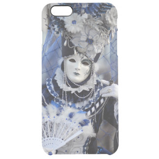 Lady With Blue Costume at The Carnival of Venice Clear iPhone 6 Plus Case
